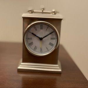 Small Silver World Market alarm clock